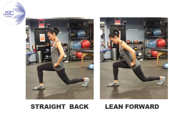 Which is a better form of lunge?